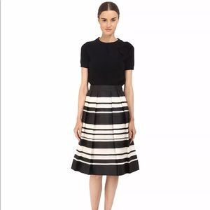 Kate Spade Cape Stripe  A-Line Silk Skirt